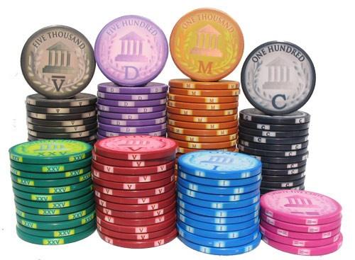 Classic Roman Poker Chips - Stacks