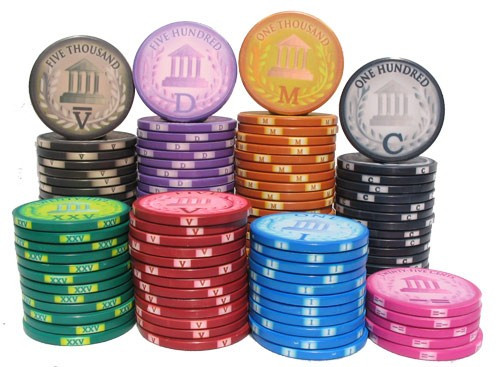 Classic Roman Poker Chips - Stacks