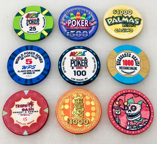Ceramic Poker Chip Sample Set