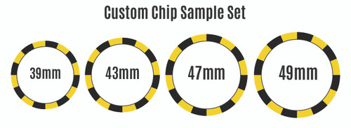 Custom Chip Sample Set (Includes one of each chip size)