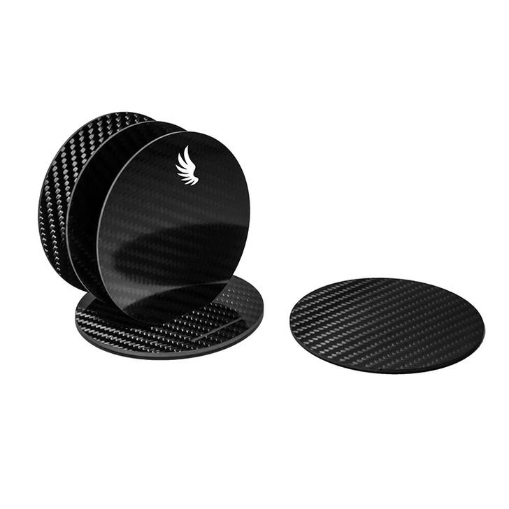 Docarbonfi Carbon Fiber Coaster Set