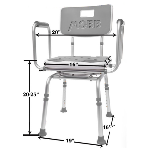 Mobb Swivel Shower Chair Dimensions UPC 844604096409