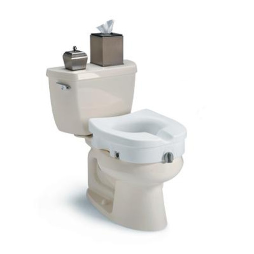 Invacare Clamp-On Raised Toilet Seat - With or Without Arms -