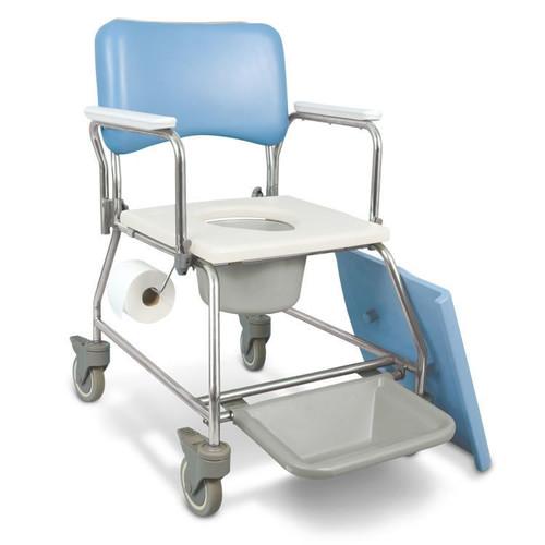 AMG Medical MedPro AquaCare Shower Commode with Swivel Armrests 770-300 | UPC 775757703008