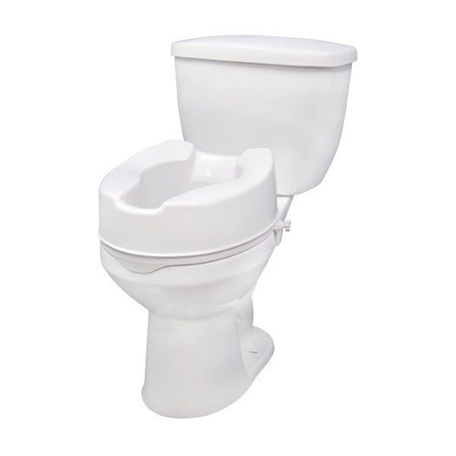 """Drive Medical Raised Toilet Seat 6"""" with Lock, No Lid 