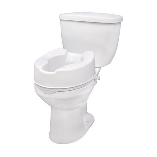 "Drive Medical Raised Toilet Seat 6"" with Lock, No Lid -  DRI-12066"