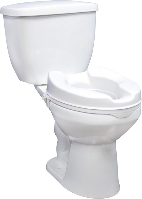 """Drive Medical Raised Toilet Seat 4"""" with Lock   12065, RTL12064   822383136721, 50822383251740"""