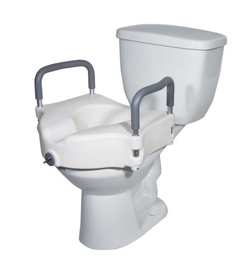 Drive Medical Elevated Raised Toilet Seat with Removable Arms | UPC: 822383246260