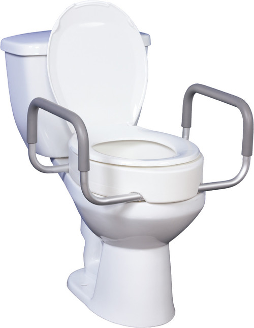 Drive Medical Premium Raised Toilet Seat with Removable Arms | 822383135670, 822383135694