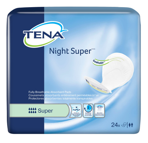 TENA Night Super Maximum Absorbency Pads|  SKU TEN-62718 |  768702627184 |