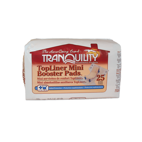 Tranquility TopLiner Mini Booster Pads | 070319020723 | (01)10070319020720