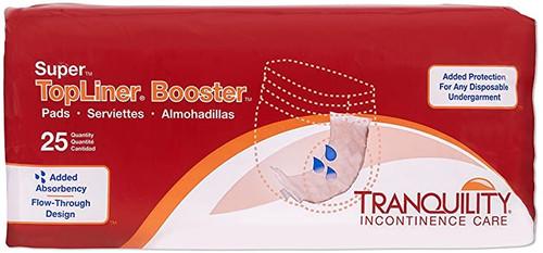 """Tranquility TopLiner Super Booster Pads Super 15"""" x 4.25""""   UPC: Pack 070319020607   Case UPC: (01)10070319020600"""