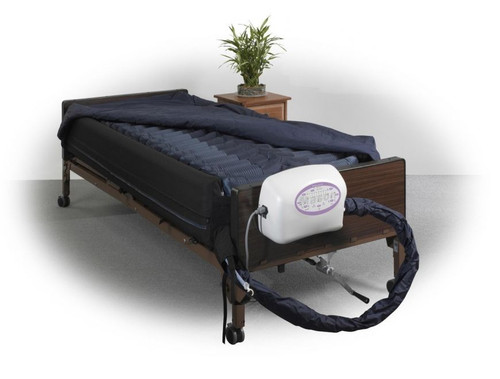 """Drive Medical Lateral Rotation Mattress with on Demand Low Air Loss 10 """"   UPC: 822383257471"""