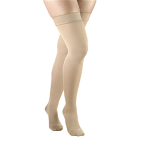Airway Surgical Truform Ladies' Opaque Hosiery Thigh High 20-30mmHg Closed Toe Beige | UPC: 048503036454, 048503036430, 048503036423, 048503036461