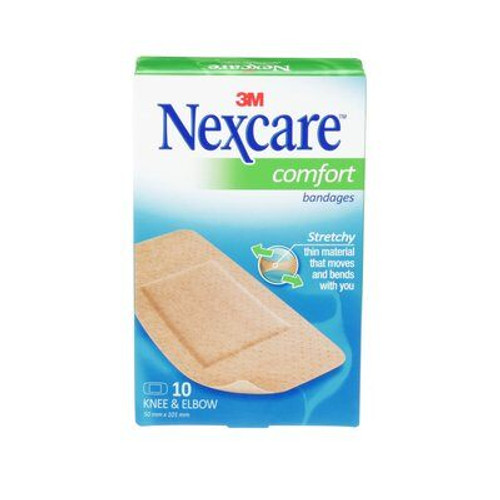 3M Nexcare Comfort Bandages for Knee & Elbow - Pack of 10 | CS103 |