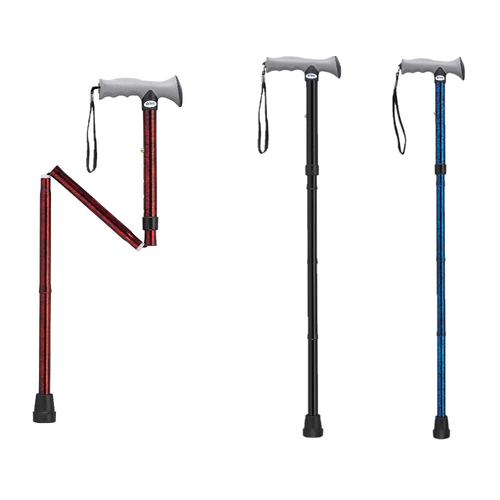 Drive Medical Adjustable Lightweight Folding Cane with Gel Hand Grip   822383246239, 822383246215, 822383246222