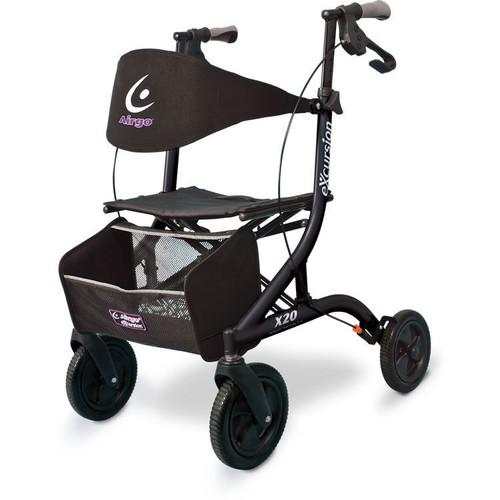 Airgo eXcursion Rollator - Pearl Black   UPC 754021213009, 775757009209, 057565999867, 775757009292