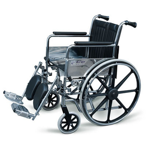 Airgo ProCare IC Wheelchair - Fixed Arms w/ Elevating Footrest | UPC 775757005263, 775757006260
