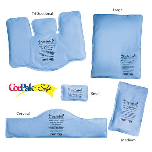 Core Products Soft Comfort CorPak Hot & Cold Therapy Packs - ACC-549, ACC-550, ACC-551, ACC-552, ACC-554   UPC 782944054904, 782944055000, 782944055109, 782944055208, 782944055406
