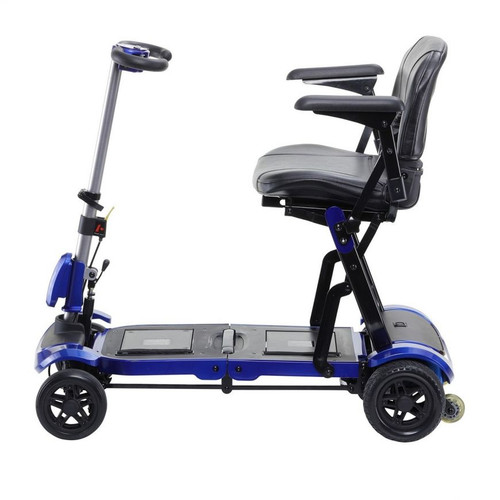 Drive Medical ZooMe Flex Folding Travel Scooter-Blue | UPC: 822383570471