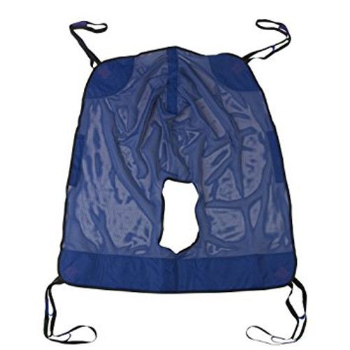 Drive Medical Full Body Patient Lift Sling with Commode Cutout-Medium | UPC: 822383103594