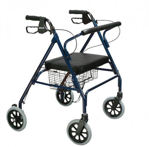 Drive Medical Heavy Duty Bariatric Rollator Walker with Large Padded Seat-Blue | UPC: 822383100647