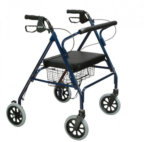 Drive Medical Go-Lite Bariatric Steel Rollator - Blue -  DRI-10215BL-1