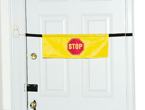 High Visibility Door Alarm Banner with Magnetically Activated Alarm System 13098