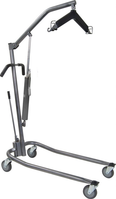 Drive Medical Hydraulic Patient Lift with Six Point Cradle, Silver Vein -  DRI-13023S
