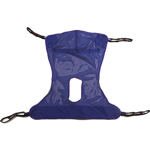 Invacare Full Body Mesh Sling w/ Commode Opening - Medium R114 Patient Lift Sling