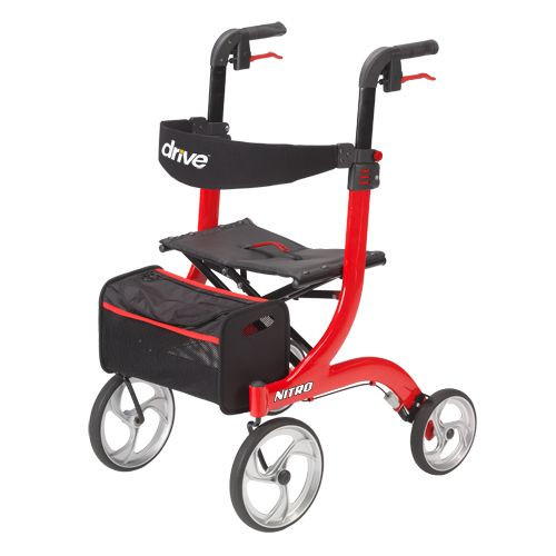"Drive Medical Nitro Rollator Regular, 10"" Casters 