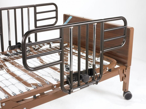 Drive Medical No Gap Half Length Side Bed Rails with Brown Vein Finish | UPC: 822383143026