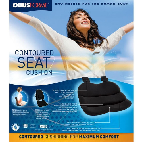 ObusForme Contoured Seat Cushion Packaging