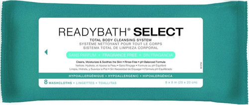 ReadyBath SELECT Medium Weight Cleansing Washcloths Frag Free 8/PK