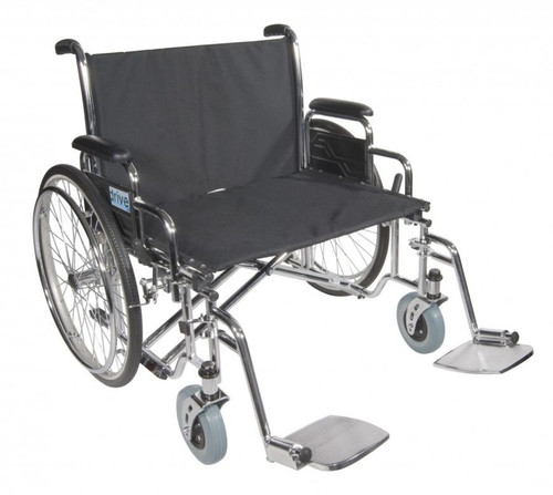 "Drive Medical Sentra EC Heavy Duty Extra Wide Wheelchair with Detachable Desk Arms, 30"" Seat 