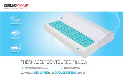 ObusForme Thermagel Memory Foam Contour Pillow