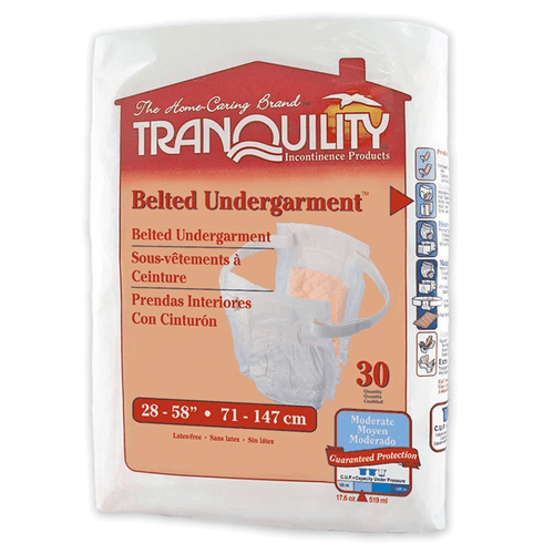 Tranquility Adjustable Belted Undergarment - Pack 30 Count |  UPC  070319021508