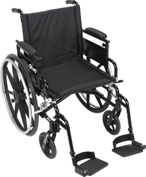 Drive Medical Viper Plus GT Wheelchair with Flip Back Adjustable Arms with Various Front Rigging | 822383256276