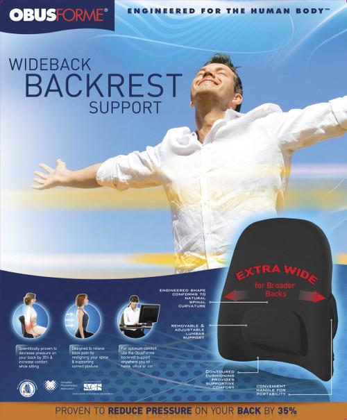 ObusForme Wideback Backrest Support Black packaging