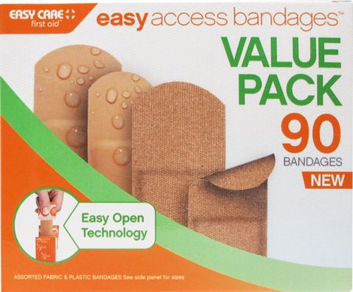 Easy Care Easy Access Bandages Value Pack - 90 -  EAS-372442