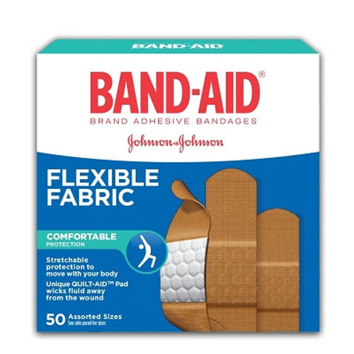 J&J Band-Aids Flexible Fabric 50's | UPC 062600731456