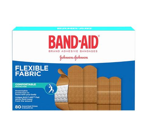 Johnson & Johnson Band-Aids Flexible Fabric 80's  | 336558 | UPC 062600130464