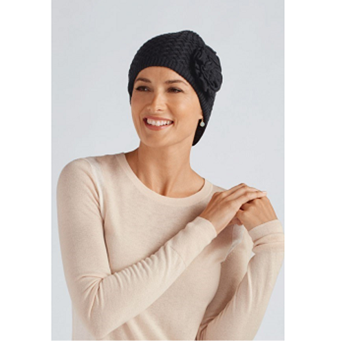 Amoena Bellflower Knit Cap - Black | UPC 00026275096223