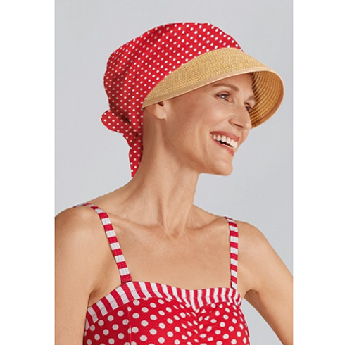 Amoena Daphne Head Scarf - Red front | UPC 4026275129112