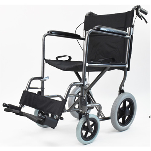 Invacare Great Big Wheel Transport Chair - Steel Silver Vein | UPC 9153657811,