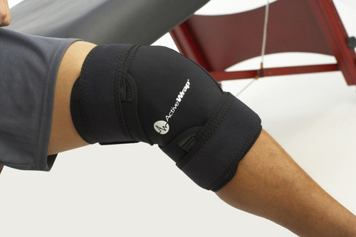 ActiveWrap Hot & Cold Knee or Leg Wrap on knee | UPC 852615001060