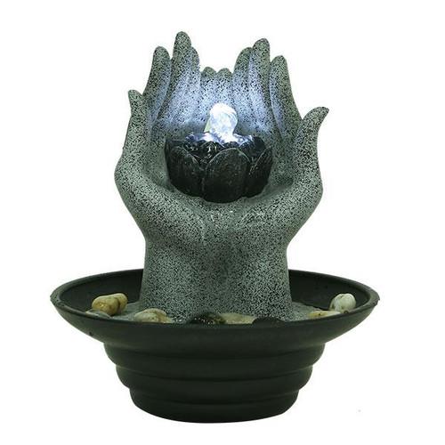 Relaxus Lotus Hands Indoor Water Fountain 700360 | UPC 628949103608