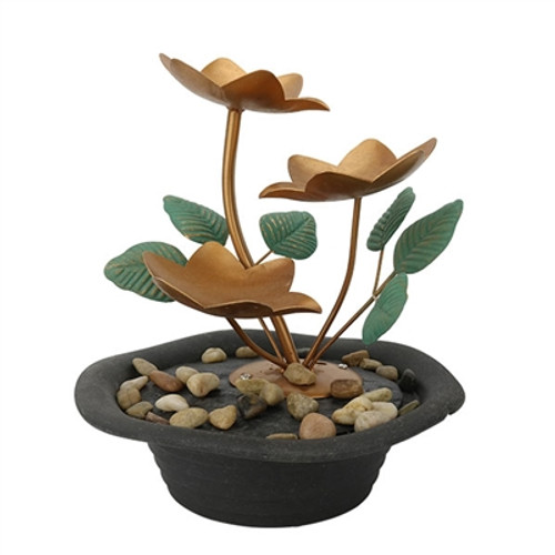 Relaxus Water Lilies Indoor Water Fountain -  REL-700353