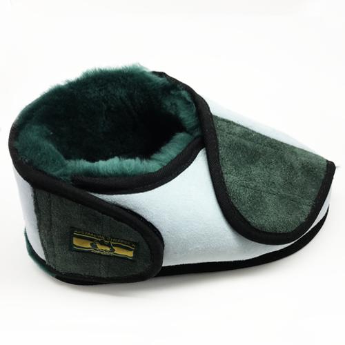 Australian Sheepskin Apparel Pressure Care and Wrap Around Slippers, Closed Toe with Rubber Sole (pair) |ASA-EPSMHS | ASA-EPSMHM | ASA-EPSMHL | ASA-EPSMHXL | UPC: 872003000277| UPC: 872003000272 | UPC: 872003000291 | UPC: 872003000284