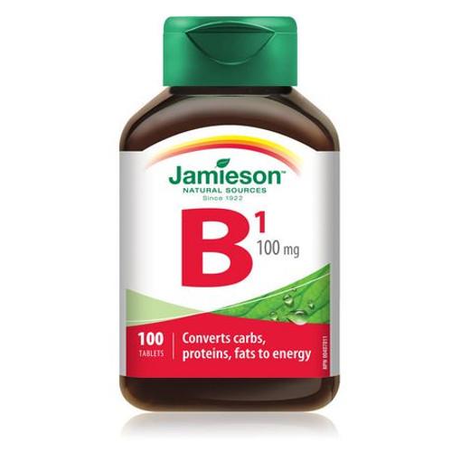 Jamieson Vitamin B1 (Thiamine) 100mg 100 tabs -  JM-1076-001